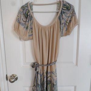 BCBGMaxazria Short Sleeved Backless Dress